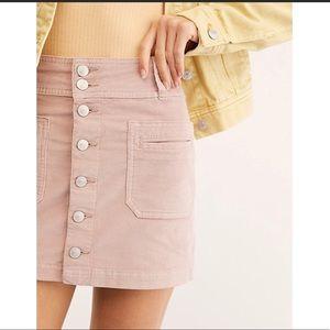 Free People Joanie Corduroy Mini Skirt NWOT